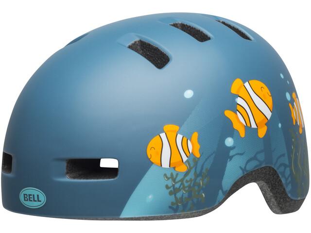 Bell Lil Ripper Helmet Barn matte gray/blue fish